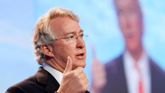 UNITED STATES - FEBRUARY 11:  Aubrey McClendon, chairman and chief executive officer of Chesapeake Energy Corp., speaks during the Cambridge Energy Research Associates CERAWeek 2009 conference in Houston, Texas, U.S., on Wednesday, Feb. 11, 2009. Chesapeake, the petroleum producer that lost 59 percent of its market value last year, is more interested in boosting demand for natural gas in the U.S. than exporting the fuel in a liquefied form, McClendon said.  (Photo by F. Carter Smith/Bloomberg via Getty Images)