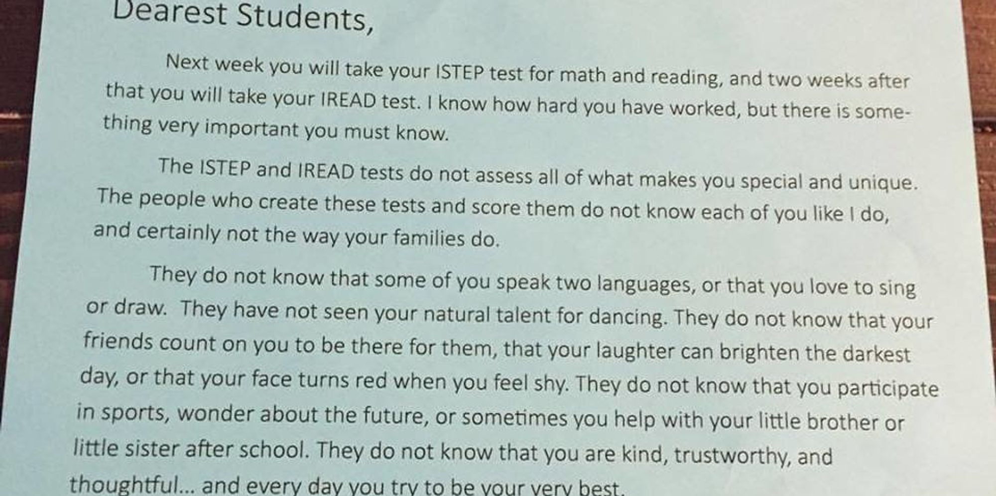 Words Of Encouragement For Kids Before A Test These tests don't define ...