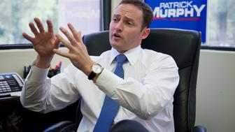 UNITED STATES - AUGUST 23:  Patrick Murphy, democratic candidate in Florida's 18th District, is interviewed by Roll Call in Palm Beach Gardens, Fla., office.  Murphy is running against Rep. Allen West, R-Fla.(Photo By Tom Williams/CQ Roll Call)