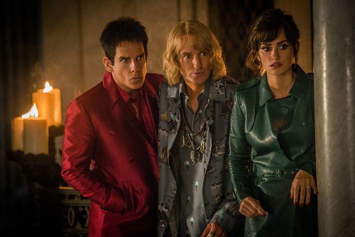 """Ben Stiller, Owen Wilson and Penelope Cruz star in a scene from """"Zoolander 2."""""""
