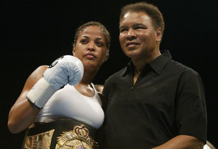 Laila Ali, now retired from boxing, went undefeated during her fighting career.