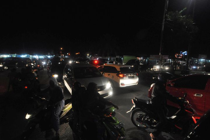 There were no immediate reports of damage, but the shallower a quake, the more dangerous it is. Indonesian residents use a va