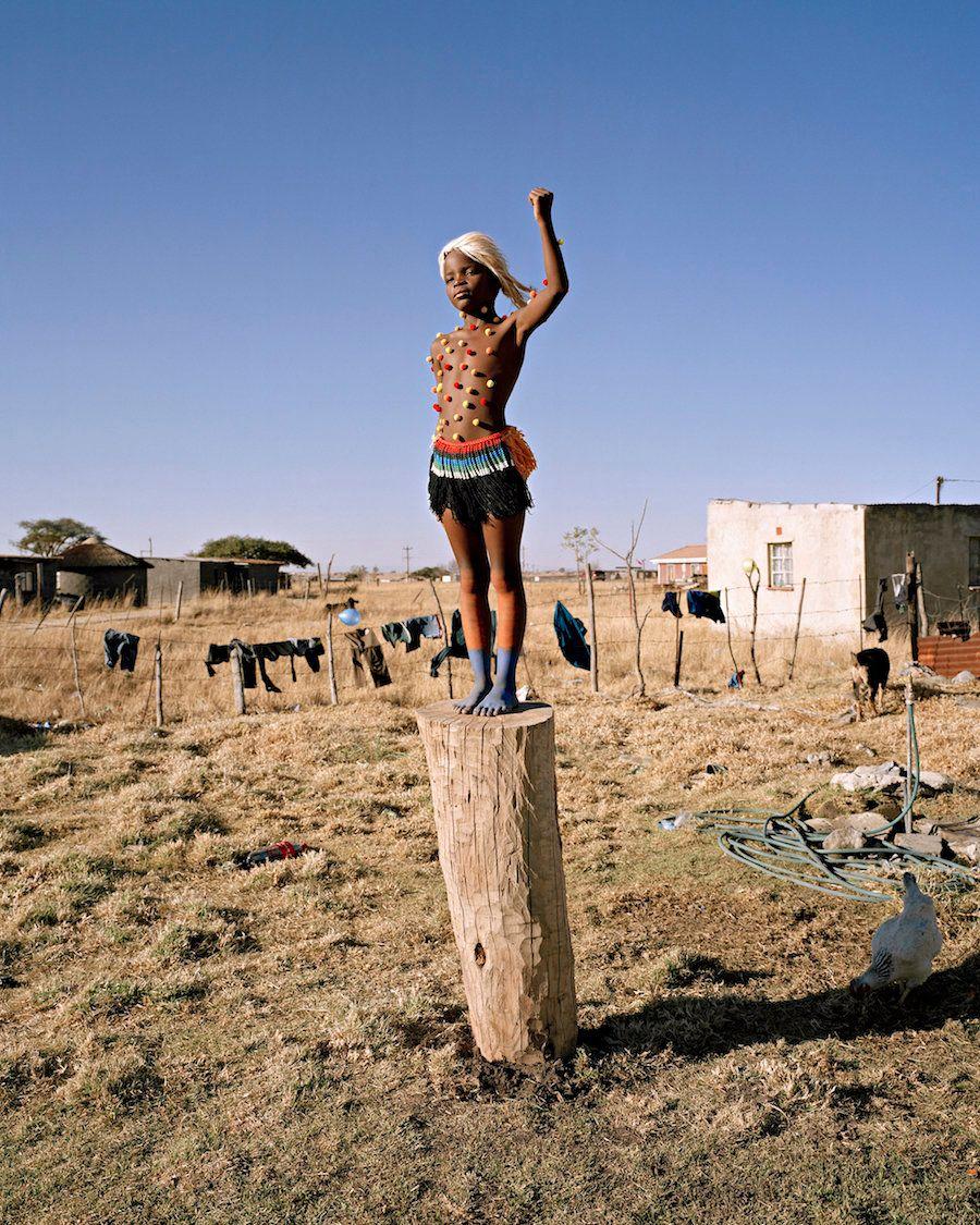 """Zulu Kids"" from the series, <i>Power.</i>Namsa Leuba,2014.Fiber pigment on Dibond"