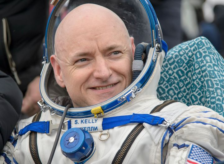 Astronaut Scott Kelly returned from nearly a year in space Tuesday with a certain youthful glow.