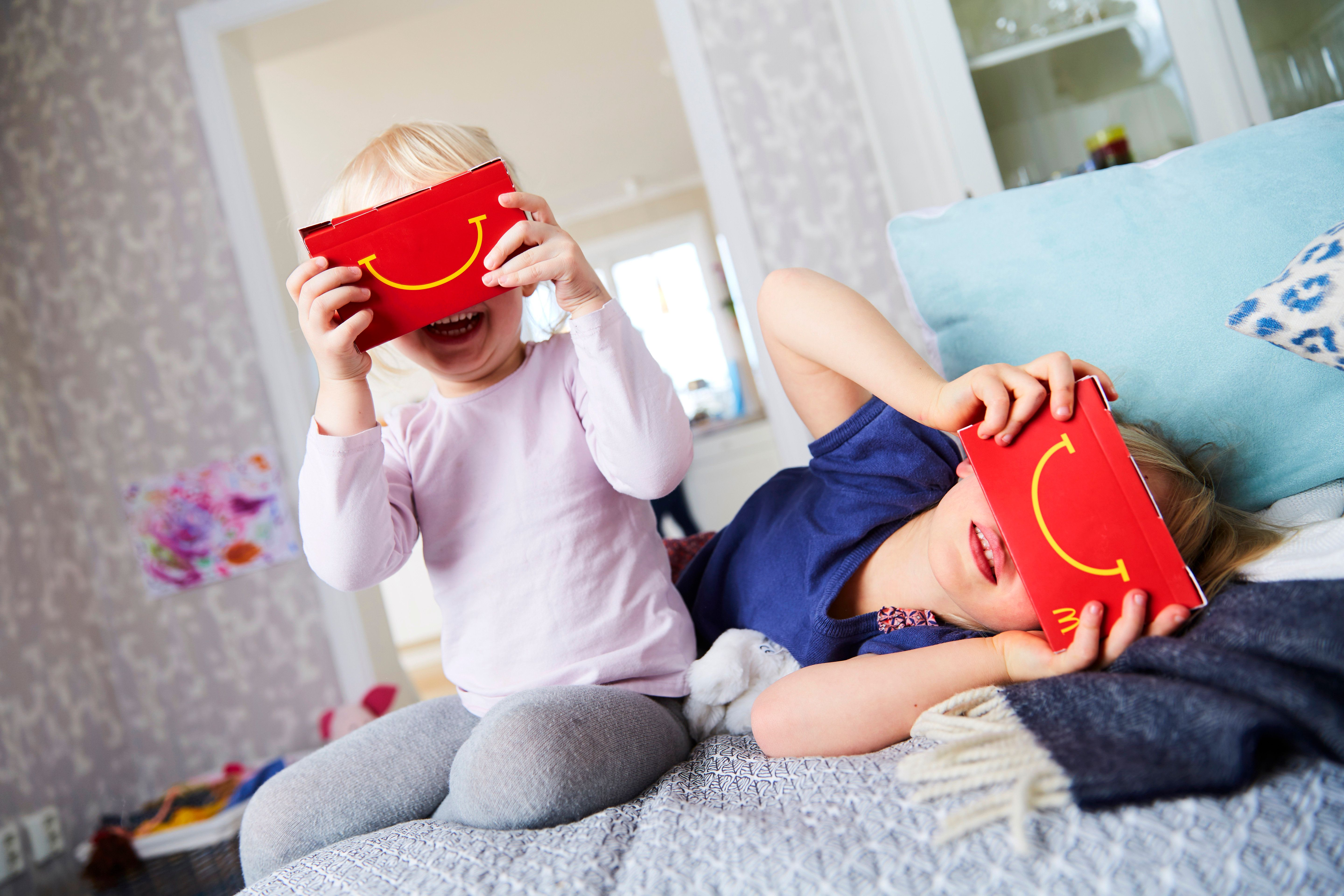 """Happy Meals in Sweden will transform into virtual reality""""Happy Goggles"""" for a limited time."""