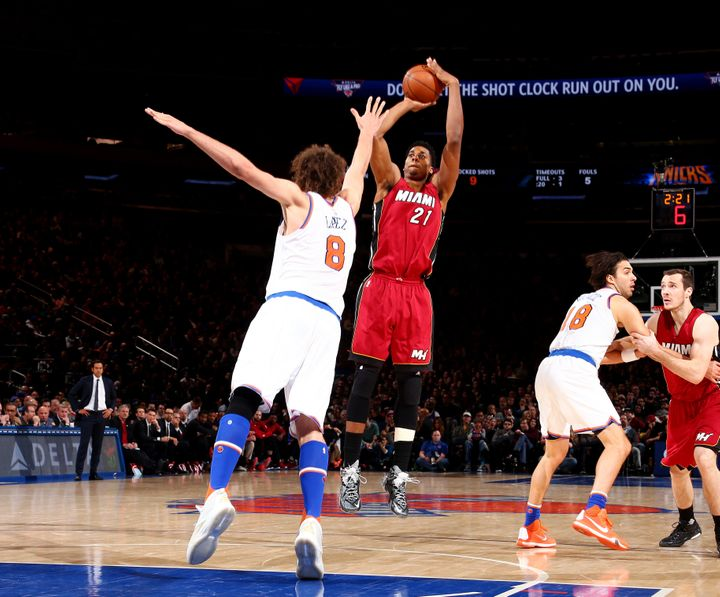 Whiteside's shooting prowess hasbeen a welcomed addition to the Heat offense.