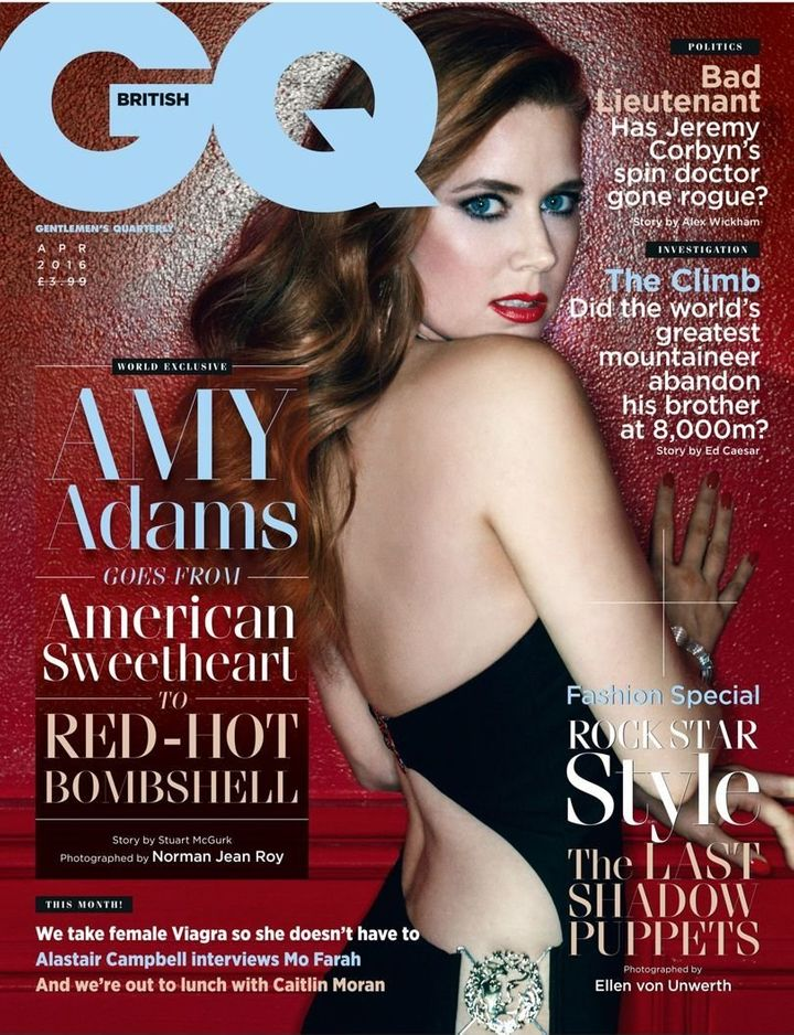 Amy Adams covers the latest issue of British GQ