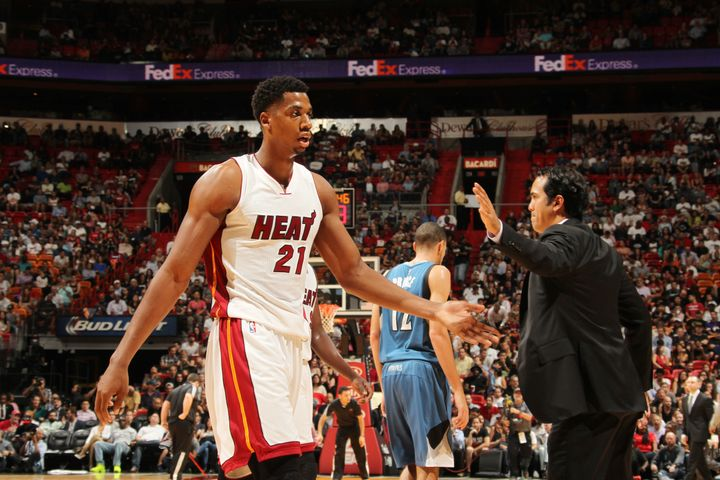 Whiteside promisedHeat head coach Erik Spoelstra that he wouldn't regret it if he gave him a chance. He nowholds