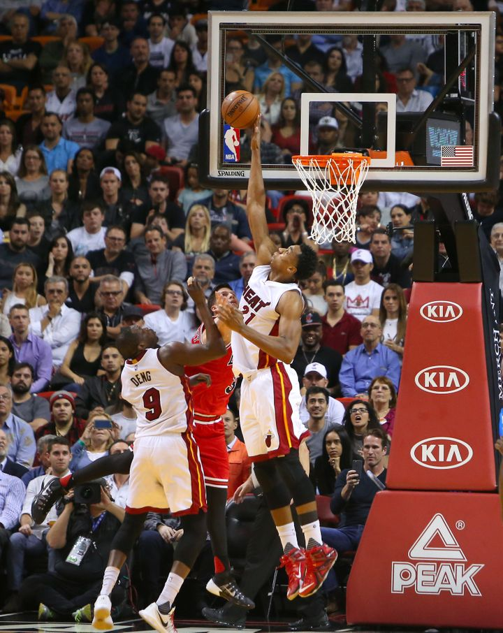 Whiteside ranks first in the NBA in defensive rating.