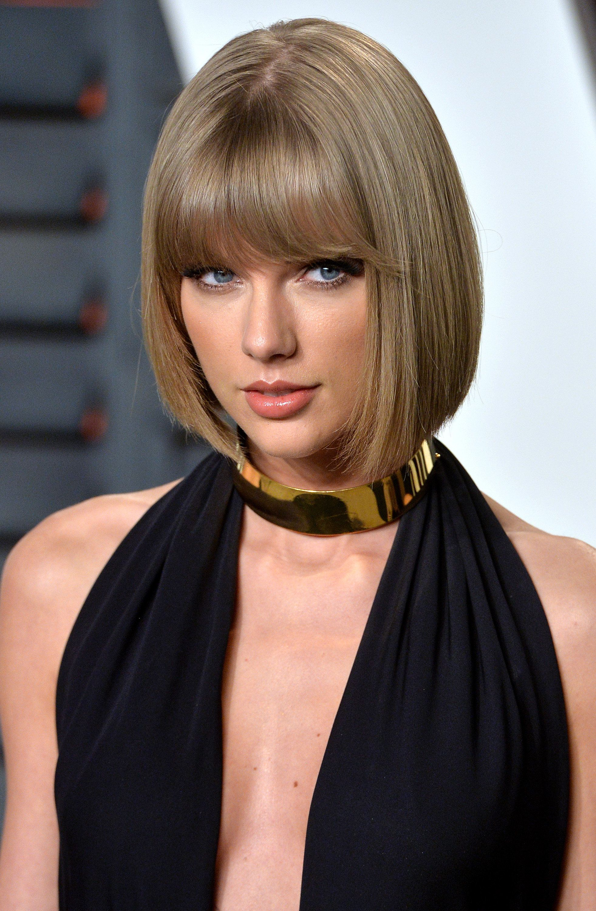 Taylor Swift's classic bob is not too long and not too short, making it an ideal length for fine hair textures.