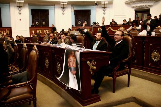 Mexico City legislators asked the federal government on Wednesdayto ban GOP presidential hopeful...