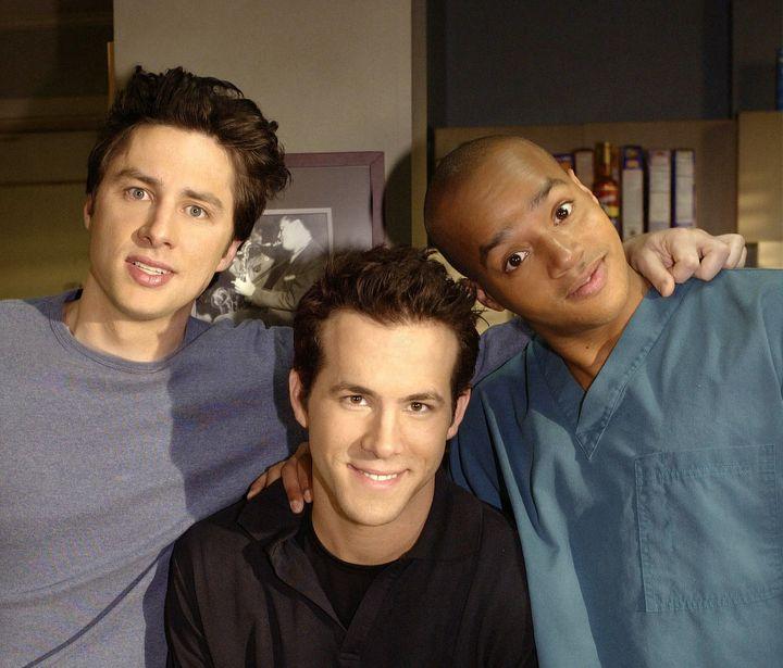 'My Dream Job' Episode 22 -- Zach Braff as Dr. John 'J.D.' Dorian, Ryan Reynolds as Spence, Donald Faison as Dr. Christopher