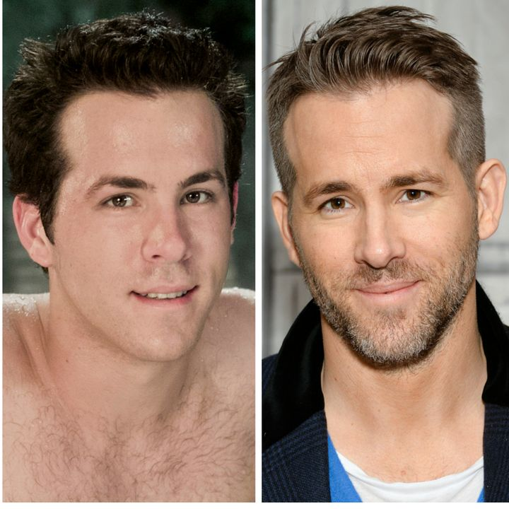 """(L)Ryan Reynolds as Spence on """"Scrubs,"""" (R)Reynolds participates in AOL's BUILD Speaker Series to discuss the fil"""