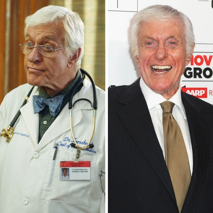 """(L)Dick Van Dyke as Dr. Townshend on """"Scrubs,"""" (R)  Dick Van Dyke attends the 15th annual Movies For Grownups Awa"""