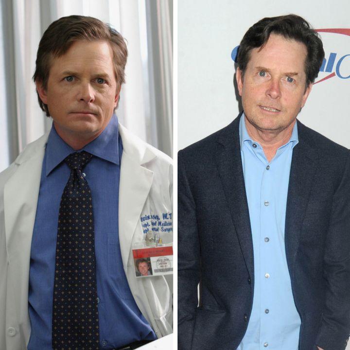 (L)Michael J. Fox as Dr. Kevin Casey (R)Michael J. Fox at Z100's iHeartRadio Jingle Ball 2015.