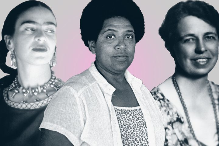 Frida Kahlo, Audre Lorde and Eleanor Roosevelt