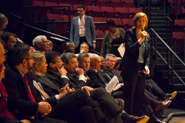 Samantha Power, U.S. Ambassador to the United Nations, invited 17 U.N. ambassadors to check out the Tony-winning musical.&nbs