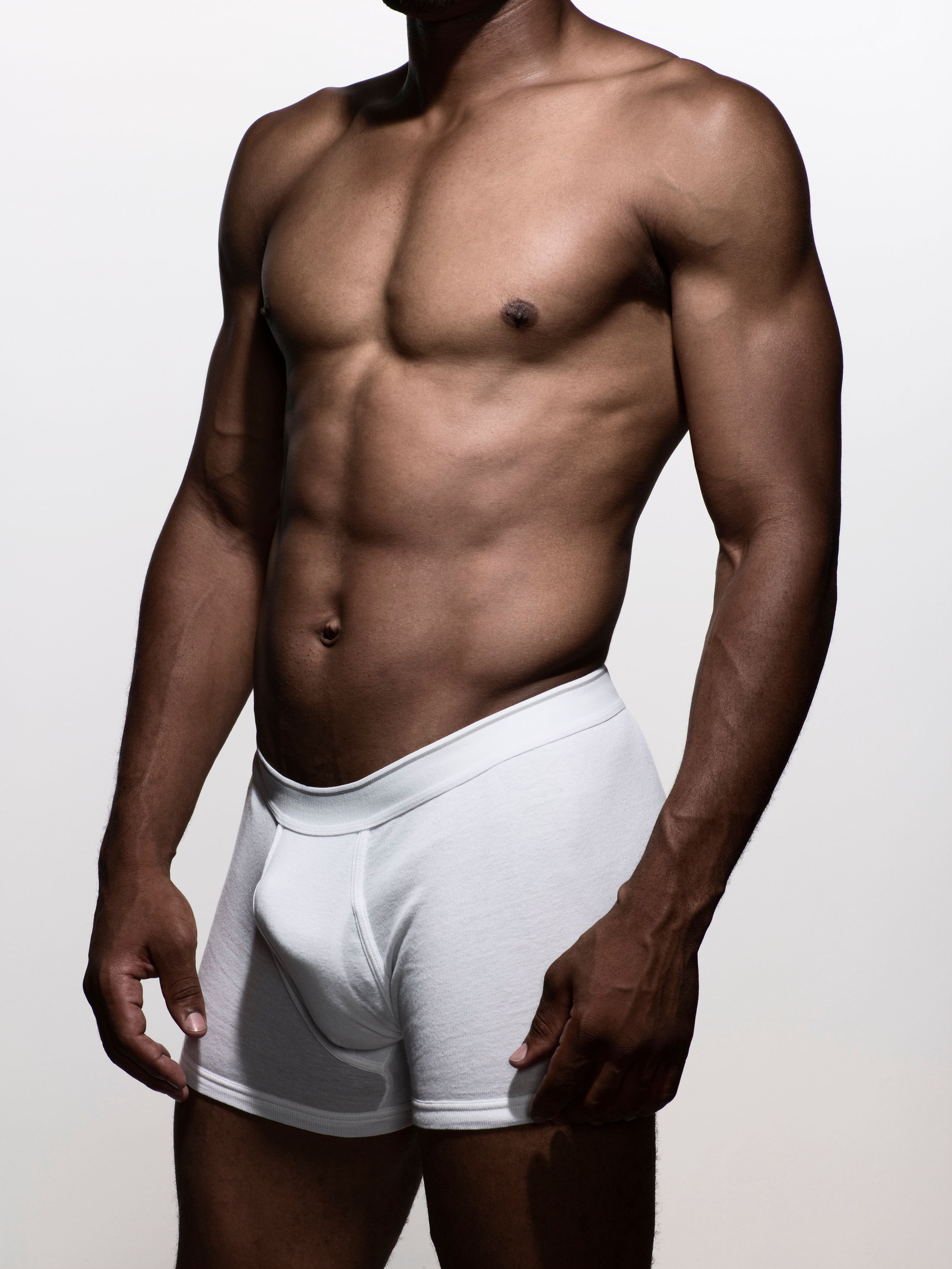 muscular man in boxer-brief underwear