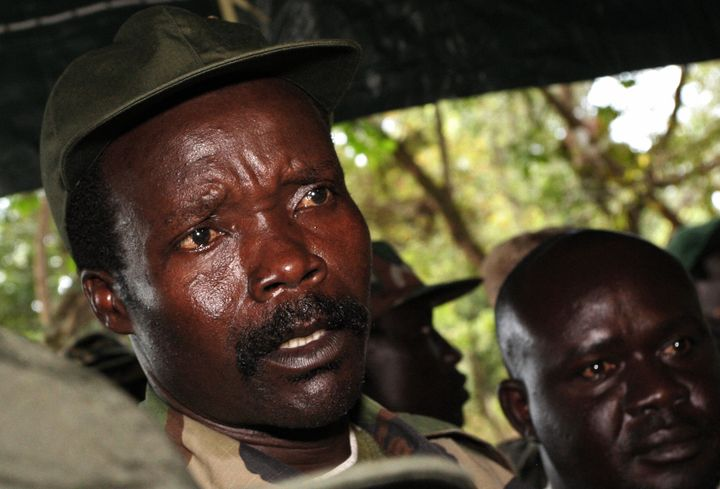 Joseph Kony, who leads the brutal militia The Lord's Resistance Army, is pictured in 2006. The group captured unprecedented n