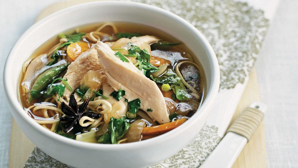 If you love chicken soup but want to add more veggies, you've got to try this zippy version. It starts with a whole chicken t