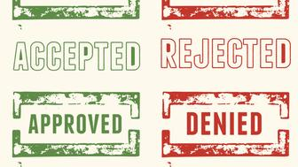 Accepted / Approved and Rejected / Denied Grunge Stamps