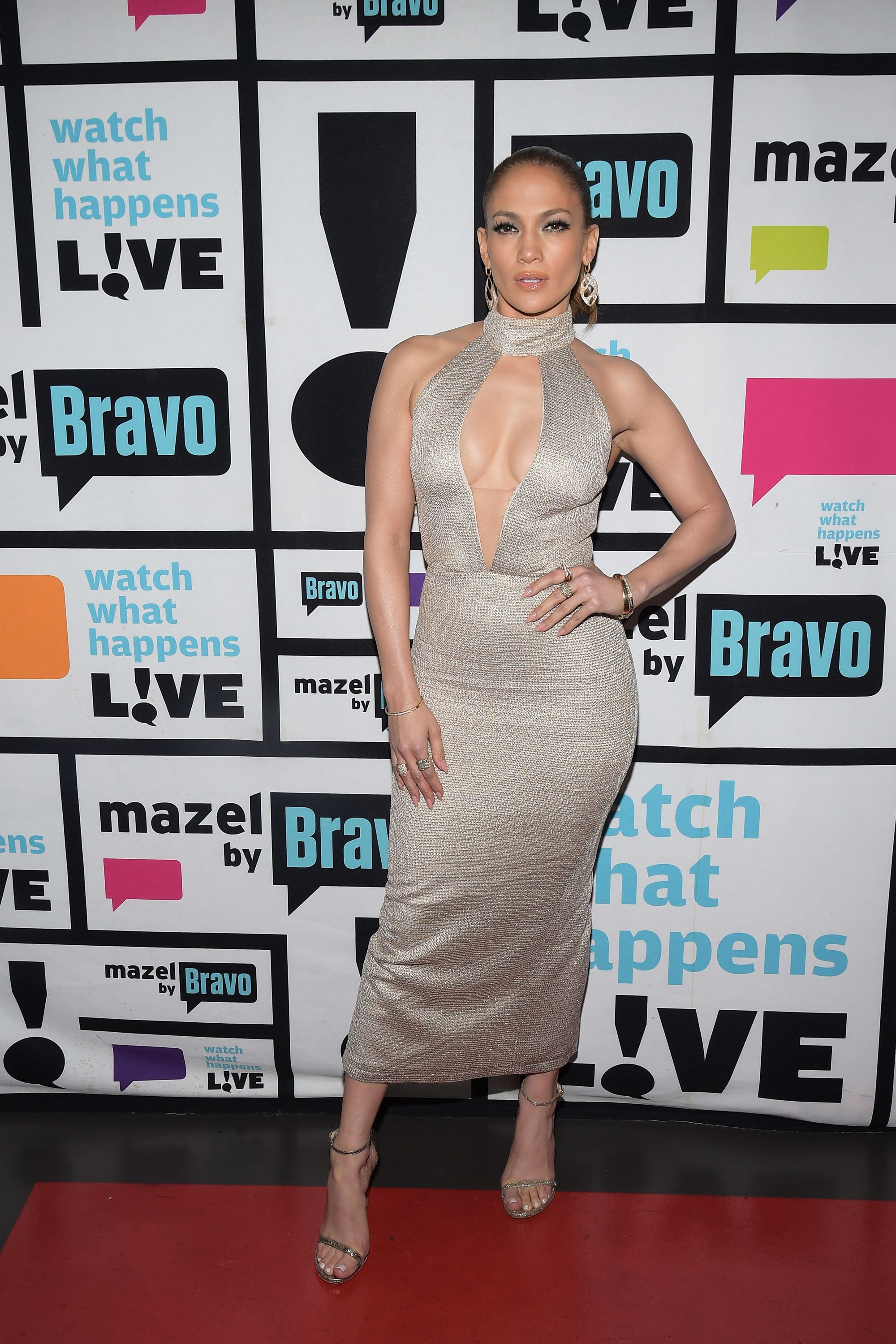WATCH WHAT HAPPENS LIVE -- Pictured: Jennifer Lopez -- (Photo by: Charles Sykes/Bravo/NBCU Photo Bank via Getty Images)