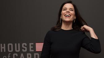 Actress Neve Campbell arrives at the season 4 premiere screening of the Netflix show 'House of Cards' in Washington, DC, on February 22, 2016. / AFP / Nicholas Kamm        (Photo credit should read NICHOLAS KAMM/AFP/Getty Images)