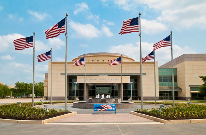 George Bush Presidential Library and Museum on Texas A&M University campus in College Station, Texas.