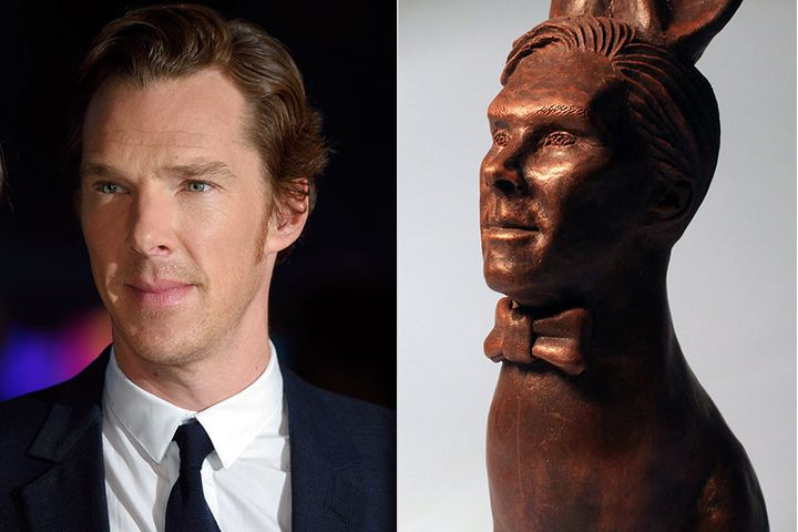 British chocolatier Jen Lindsey-Clark has made an Easter Bunny that looks just like actor Benedict Cumberbatch.