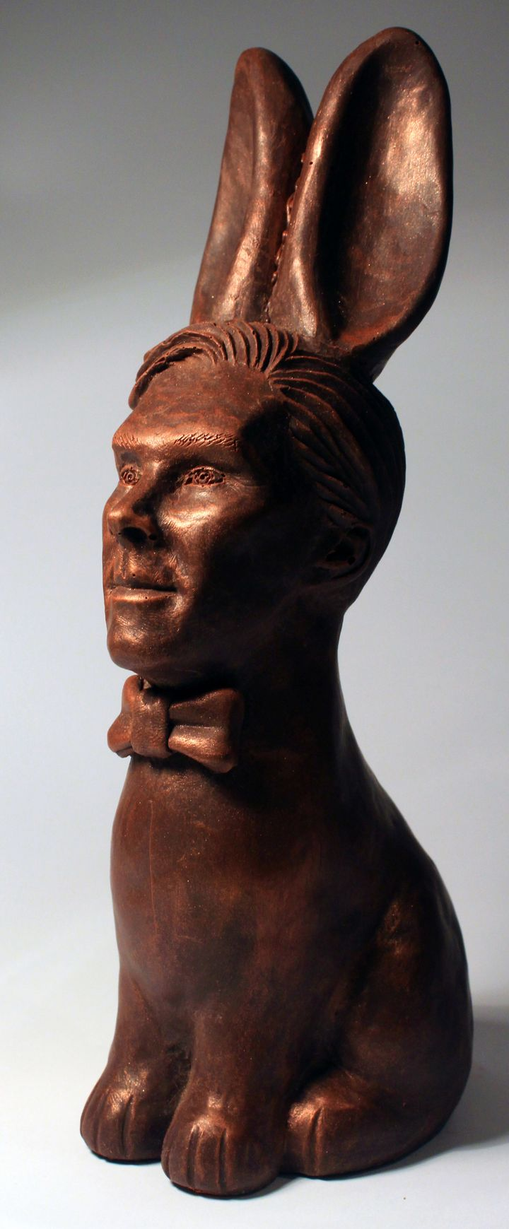 The chocolate Cumberbunny is described as a delicious Belgian chocolate rabbit with a handsome face and a tasty bottom.
