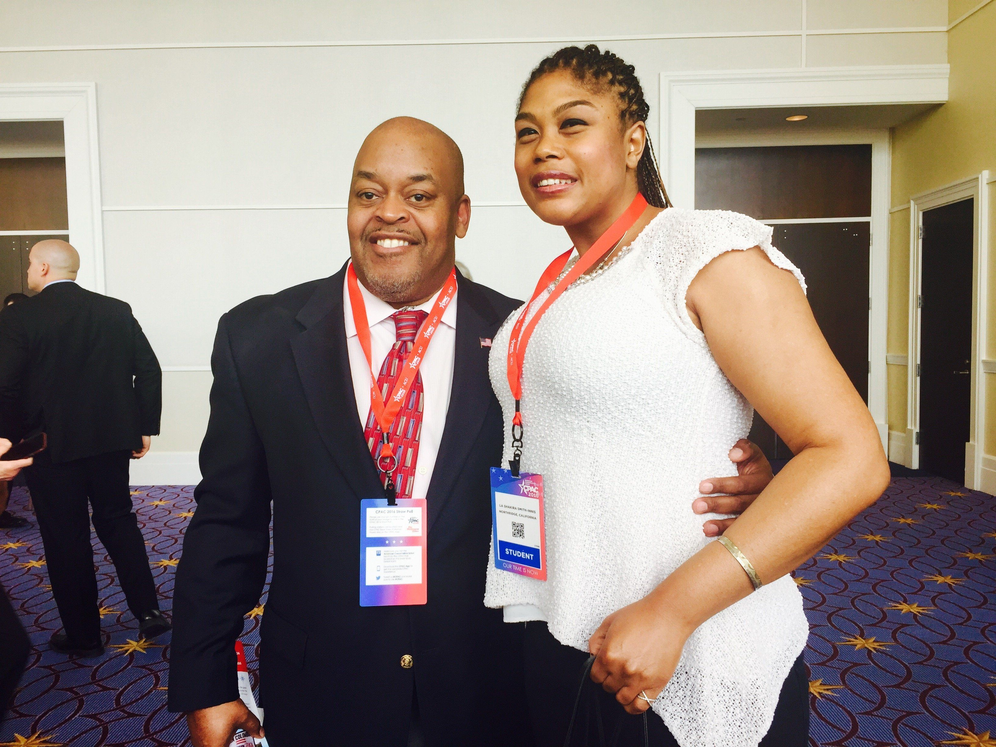 Niger (left) and Kira Innis are Republicans for different reasons. But they agree that only a GOP candidate will lead the country in the right direction.
