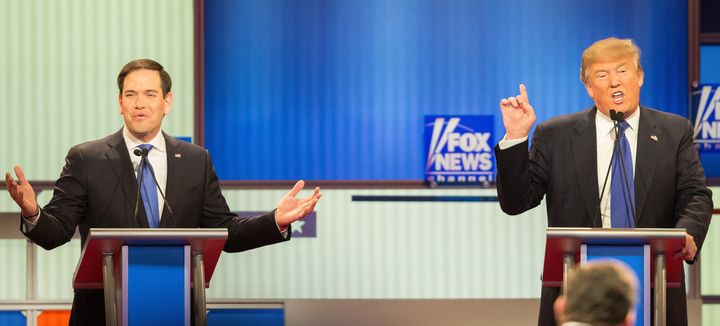Just two grown men, arguing about dick sizeduring a national political debate.