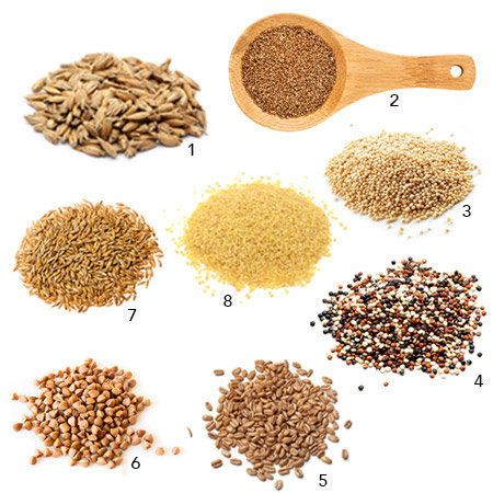 1. Spelt&mdash;10.67 grams in 1 cup, cooked <br><br>2. Teff&mdash;9.75 grams in 1 cup, cooked <br><br>3. Amaranth&mdash;9.35