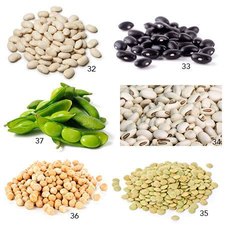 32. White Beans—17.42 grams in 1 cup, boiled without salt <br><br>33. Black Beans—15.24 grams in 1 cup, boiled wi