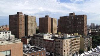 View of public housing projects in New York City