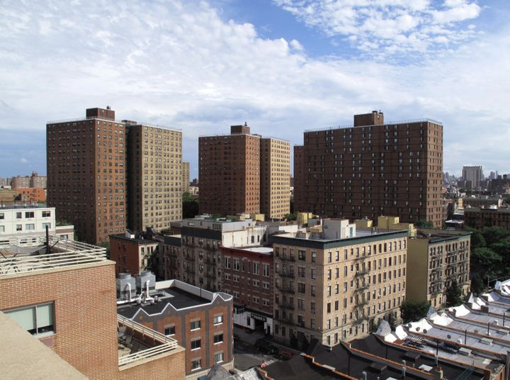 View of public housing projects in New York City. Millions of families in the United States are eligible for housing assistan