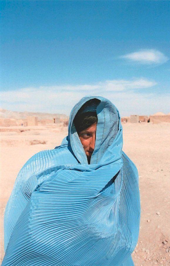 Woman wearing a burka in Afghanistan, 2000.