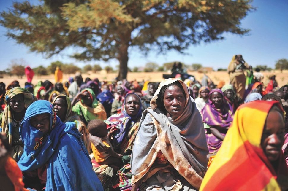 Drought refugees in Darfur.