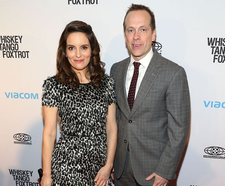 "Tina Fey and Robert Carlock attend a screening of ""Whiskey Tango Foxtrot"" on Feb. 23, 2016."