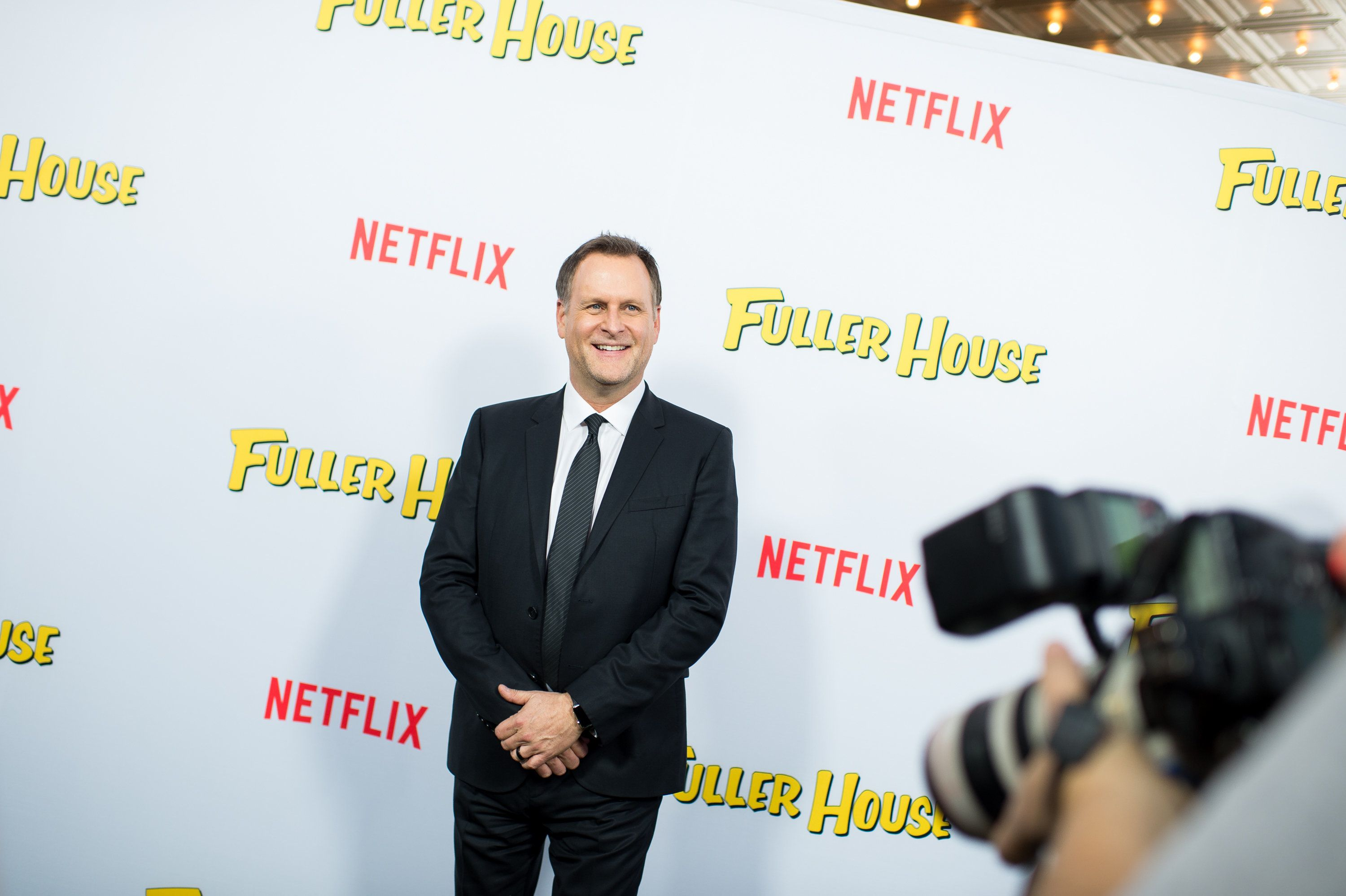 LOS ANGELES, CA - FEBRUARY 16:  Actor Dave Coulier attends the premiere of Netflix's 'Fuller House' at Pacific Theatres at The Grove on February 16, 2016 in Los Angeles, California.  (Photo by Emma McIntyre/Getty Images)