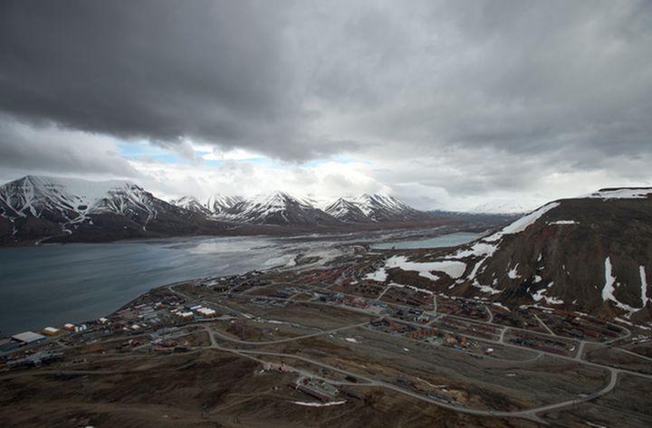 Overlooking the town of Longyearbyen, Svalbard.