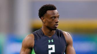 INDIANAPOLIS, IN - FEBRUARY 29: Defensive back Eli Apple of Ohio State looks on during the 2016 NFL Scouting Combine at Lucas Oil Stadium on February 29, 2016 in Indianapolis, Indiana. (Photo by Joe Robbins/Getty Images)