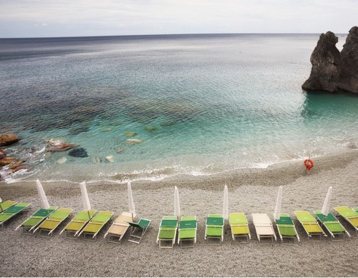 The beach in the heart of Monterosso.