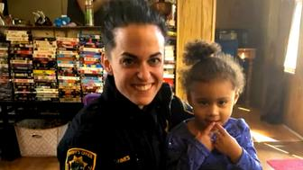 When two-year-old Aliyah Ryan needed help putting on her pants, she called 911. Luckily, Greenville County Deputy Martha Lohnes was able to help.
