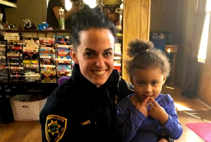 When two-year-old Aaliyah Ryan needed help putting on her pants, she called 911. Luckily, Greenville County Deputy Martha Loh