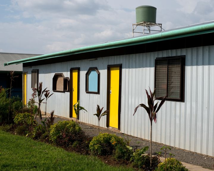 The entrance to the MSF-run Tari Hospital in Papua New Guinea.
