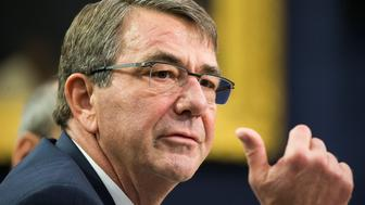WASHINGTON, USA - FEBRUARY 25: Secretary of Defense Ash Carter testifies during a House Appropriations Committee hearing on the proposed 2017 Department of Defense budget in Washington, USA on February 25, 2016. (Photo by Samuel Corum/Anadolu Agency/Getty Images)