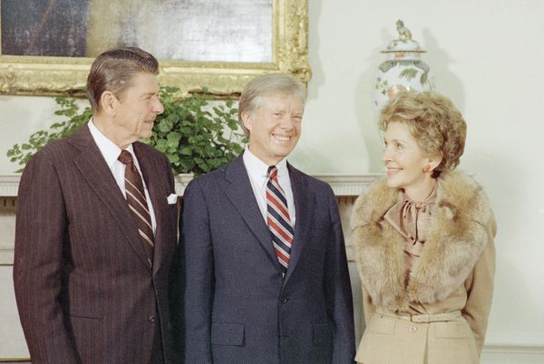"""Rosalynn and I are saddened by the passing of former First Lady Nancy Reagan. She will always be admired for her strength of"
