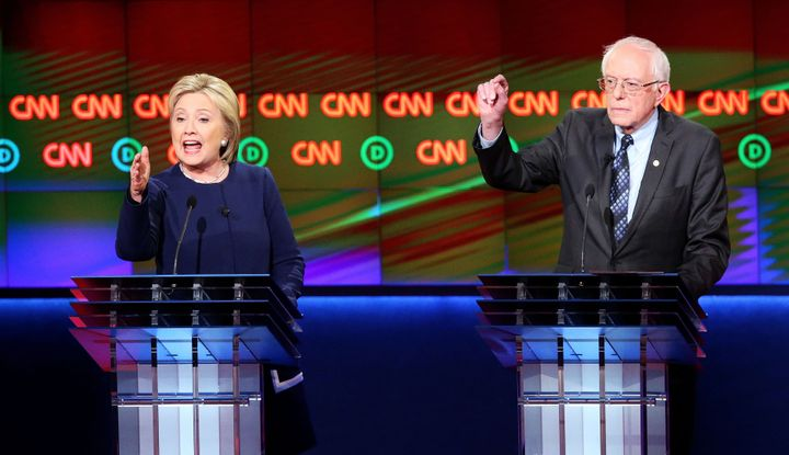 Clinton and Sanders got into it over trade, guns and pretty much everything else on the domestic agenda.