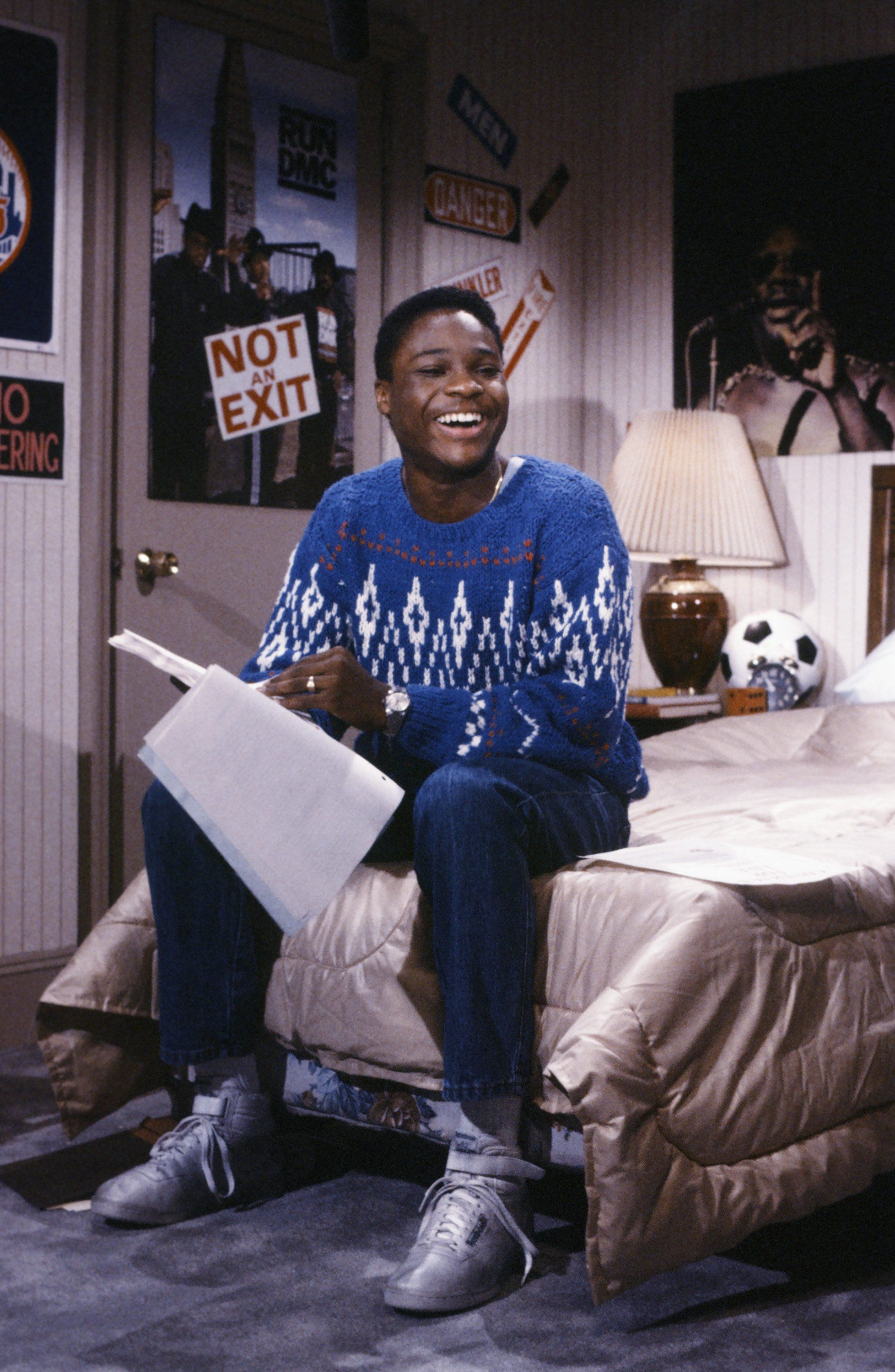 SATURDAY NIGHT LIVE -- Episode 2 -- Pictured: Malcolm-Jamal Warner during 'Parent-Teen Drunk Driving Contract' skit on October 10, 1986 -- Photo by: Alan Singer/NBC/NBCU Photo Bank